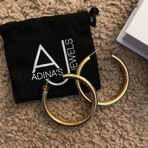 Adinas Jewels hollow hoop earrings